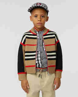 Wełniany sweter w paski 4-14 lat