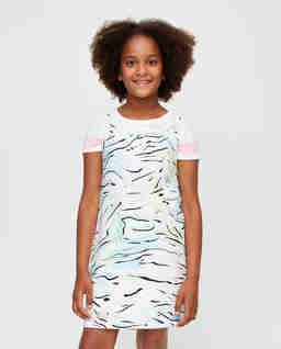 Dwuczęściowa sukienka z nadrukiem 5-10 lat