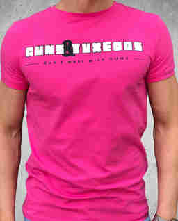 Różowy t-shirt Pink Gun