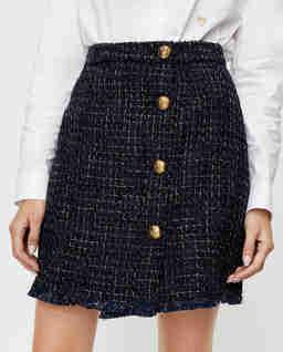 Tweedowa spódnica z guzikami Pierfrancesco