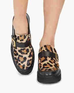 Kožené boty na platformě