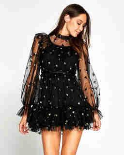Czarna sukienka mini Moon Lover