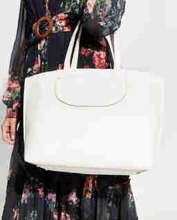 Biała torebka shopper Medium