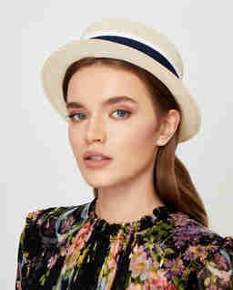 Beżowy kapelusz Auguste