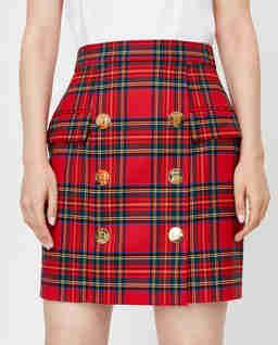 Krótka spódnica w kratę