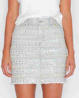 Jeansowa spódnica z haftem Dissent