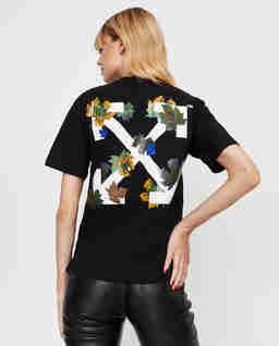 Czarny t-shirt ze strzałami