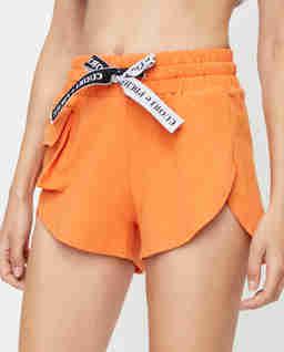 Pomarańczowe szorty z kieszeniami BRISK