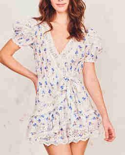 Krótka sukienka z koronką Belen