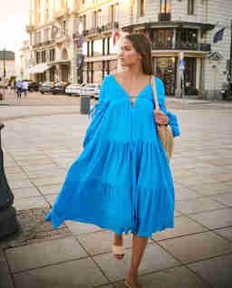 Niebieskia sukienka Mykonos