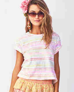 Kolorowy t-shirt Cali