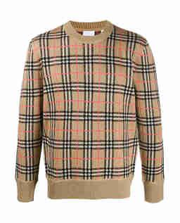 Sweter w kratę vintage
