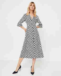 Czarno-biała sukienka Fidato