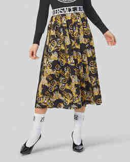 Plisowana spódnica z barokowym nadrukiem