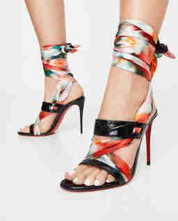 Sandały na szpilce Foulard Cheville