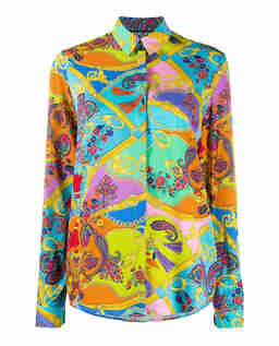 Koszula z kolorowym nadrukiem