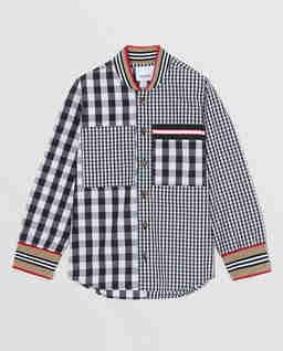 Patchworkowa koszula w kratę 4-10 lat