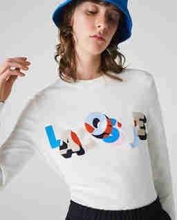 Bawełniana bluza z kolorowym nadrukiem