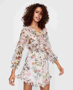 Jedwabna sukienka w kwiaty Firefly Silk