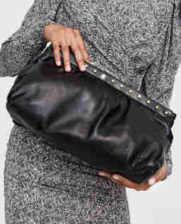 Czarna torebka do ręki Luz