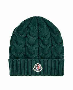 Zielona czapka z logo