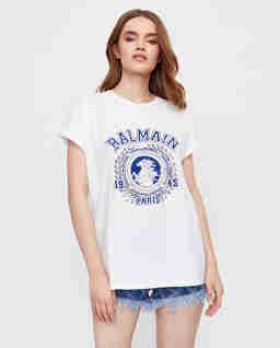 Biała koszulka z nadrukiem