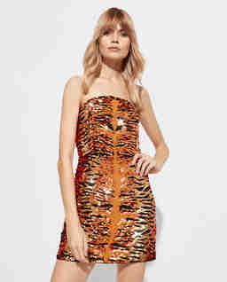 Sukienka we wzór tygrysa Aurora