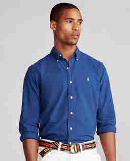 Niebieska koszula Oxford Slim Fit