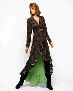 Asymetryczna sukienka w cętki Eridano