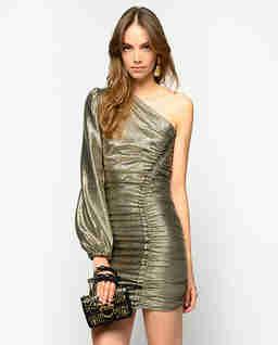 Metaliczna sukienka Magnitudine