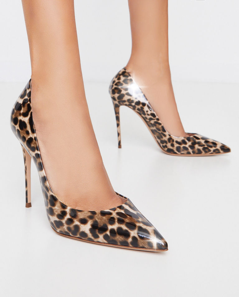 Szpilki w cętki leoparda Jungle Love Casadei