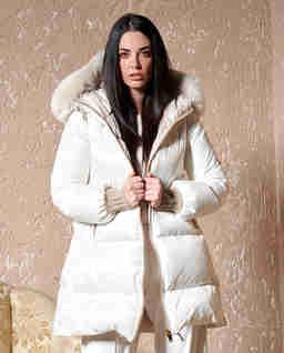 Biała kurtka Ellina