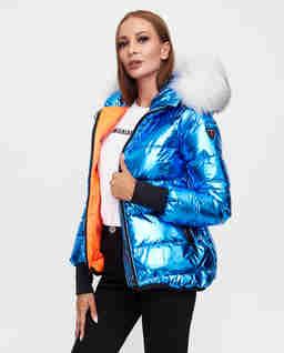 Niebieska kurtka Pop Art