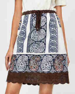 Spódnica mini w stylu boho