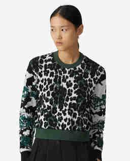 Zielony sweter Leopard