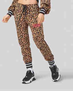Bawełniane spodnie ze zwierzęcym wzorem