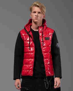 Pikowana kurtka z naszywkami Defender RB