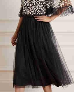 Czarna spódnica z tiulu