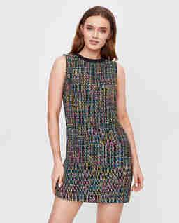 Tweedowa sukienka z bawełny