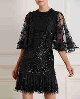 Černé šaty s flitry Melody