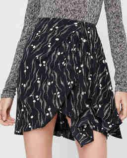 Asymetryczna spódnica z jedwabiu Ixori