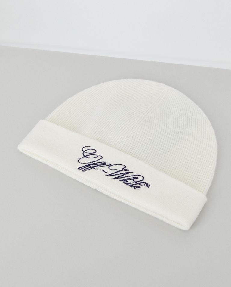 Biała czapka z wełny Off-White