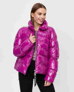 Różowa kurtka puchowa Mirco
