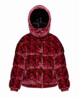 Różowa kurtka z aksamitu Daos