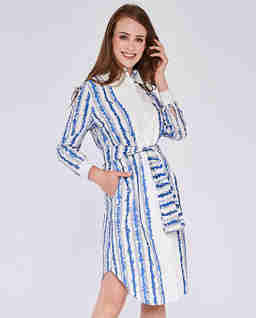 Bawełniana sukienka koszulowa Kate
