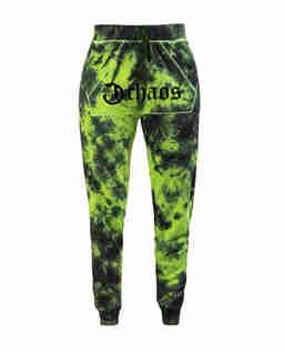 Zielone spodnie dresowe z logo Ravon