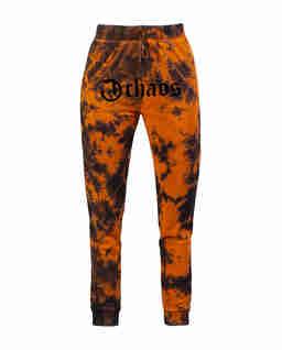 Pomarańczowe spodnie dresowe z logo Ravon