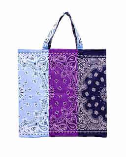 Niebieska torba Bandana z bawełny