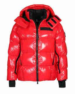 Czerwona kurtka puchowa Verrand