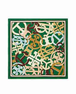 Zielona apaszka z jedwabiu